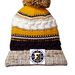 Bruins Hockey Pom Pom Beanie