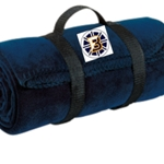 Bruins Hockey Navy Fleece Blanket
