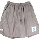 Bomber Football Adult Under Armour Grey Team Coaches Shorts
