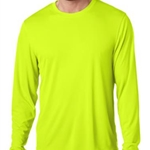 Brighton Track & Field/Cross Country Adult Safety Green Long Sleeve Tee