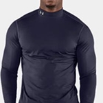 Brighton Track & Field/Cross Country Adult Navy Mens Under Armour Long Sleeve Mock
