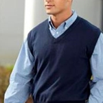 Brighton Track & Field/Cross Country Adult Navy V-Neck Sweater
