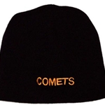 Golden Comets Swim Adult Black Beanie