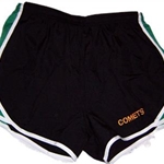Golden Comets Swim Team Black Green White Shorts