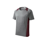 Mendon Basketball Adult Gray Maroon Short Sleeve Pennant Tee