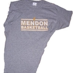 Mendon Basketball Mens Gray Tee