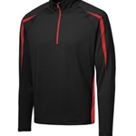 Penfield Youth Wrestling Adult Black/True Red Half Zip Colorblock Pullover