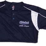 Pittsford Little League Adult Dry Pro Henley Short Sleeve T