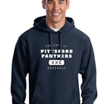 Pittsford Panthers Baseball Adult Navy Hoodie