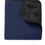 Pittsford Sutherland Baseball Navy Travel Blanket