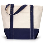 Pittsford Sutherland Baseball Navy Zippered Tote