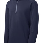 Pittsford Wrestling Men's True Navy Textured 1/4 Zip Pullover