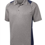 Pittsford Wrestling Men's Sport-Tek Vintage Heather/Navy Contender Polo