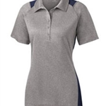 Pittsford Wrestling Ladies Sport-Tek Vintage Heather/Navy Contender Polo