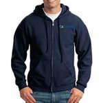 eHealth Technologies Mens Full Zip Hooded Sweatshirt