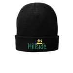 Hillside Service Solutions Adult Black Winter Knit Hat