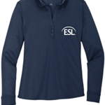 Ladies Silk Touch Performance Long Sleeve Polo - $24.00