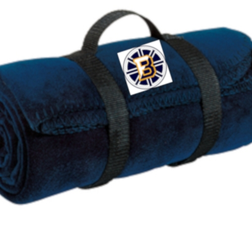 Barons Hockey Navy Fleece Blanket