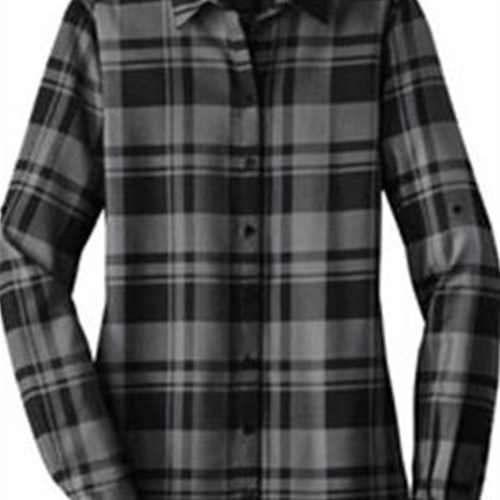 BHS Production Crew Ladies Plaid Flannel Shirt