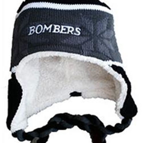 Bomber Football Adult Holloway Black Ridge Beanie