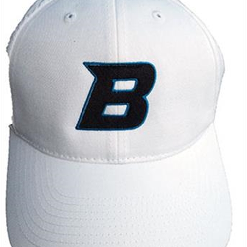 Bomber Football Adult Port Authority White Fine Twill Cap