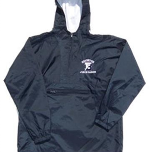 Brighton Junior Barons Adult Navy 1/4 Zip Hooded Pullover