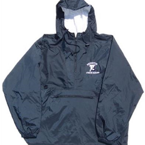 Brighton Junior Barons Navy Youth 1/4 Zip Hooded Pullover
