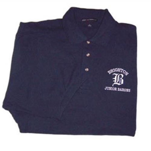 Brighton Junior Barons Mens Navy Sport Shirt.
