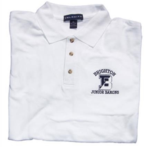 Brighton Junior Barons Mens White Sport Shirt