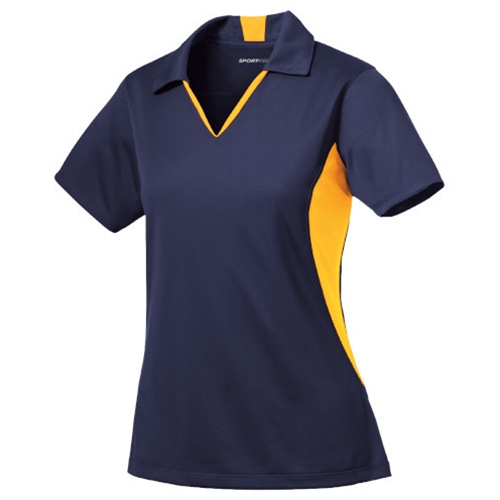 Brighton LAX Ladies Navy Blue/Gold Polo