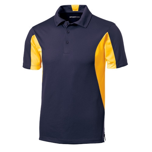 Brighton LAX Mens Navy Blue/Gold Polo