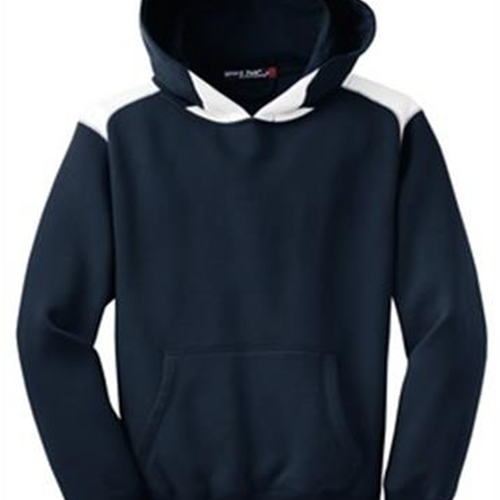 Brighton LAX Youth Navy/White Hooded Sweat Shirt