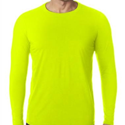 Brighton Track & Field Adult Safety Green Long Sleeve Tee