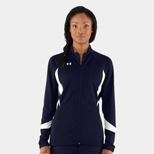 Brighton Track & Field/Cross Country Ladies Navy White Under Armour Hype Jacket