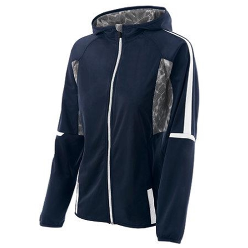 Brighton Track & Field/Cross Country Ladies Holloway Navy/White Fortitude Jacket