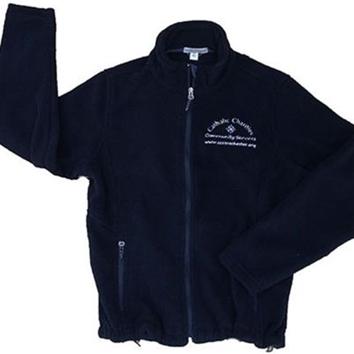 Catholic Charities Mens Black Fleece Jacket