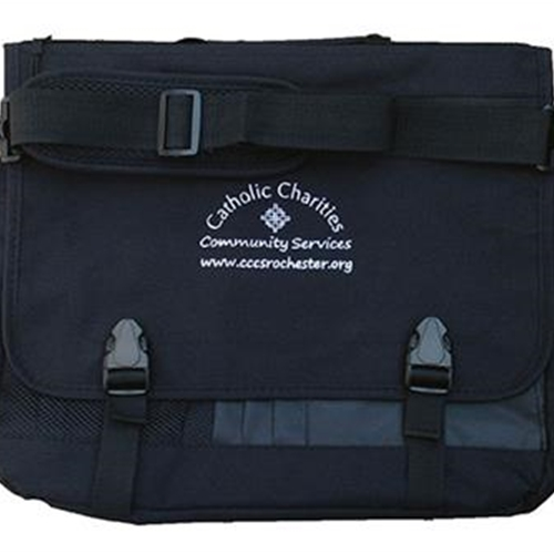 Catholic Charities Black Messenger Briefcase