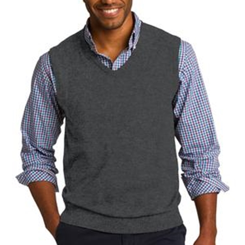 WITA Mens Charcoal Heather V-Neck Sweater