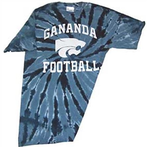 Gananda Youth Football Navy Tye Dye Tee