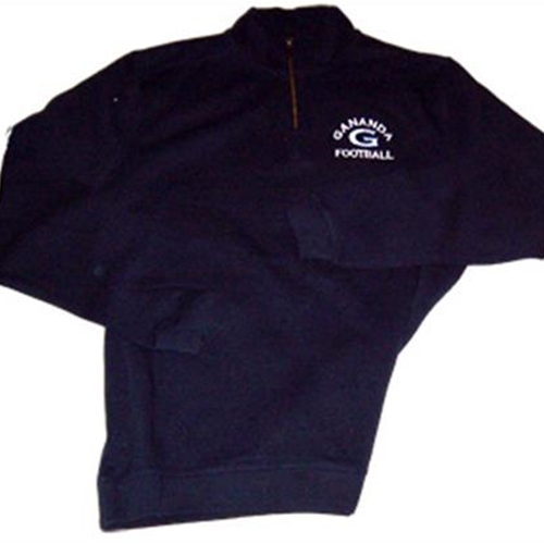 Gananda Football Adult Navy 1/4 Zip Sweatshirt