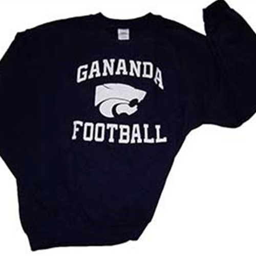 Gananda Football Adult Navy Crew Neck Sweat Shirt