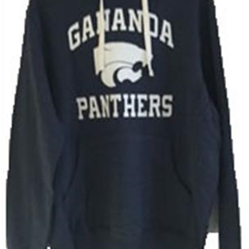 Gananda Football Adult Navy Throwback Hoodie