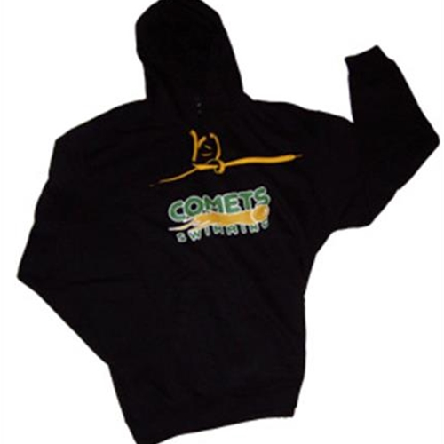 Golden Comets Swim Adult Black Hoody