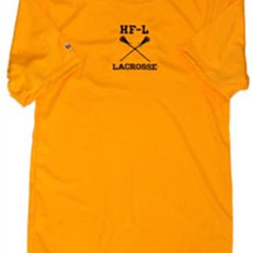 Honeoye Falls-Lima Youth Performance Tees  Lt. Gold  Short Sleeve