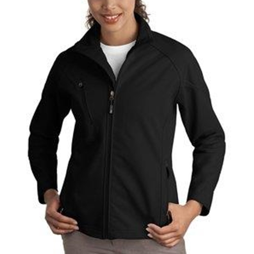 Honeoye Falls Lima Ladies Black Textured Soft Shell Jacket