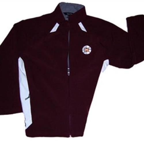 Mendon Basketball Ladies Holloway Maroon White Vortex Jacket