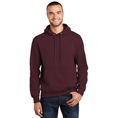 Mendon Basketball Adult Maroon White Pennant Hoody