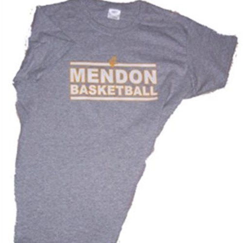 Mendon Basketball Ladies Grey Tee