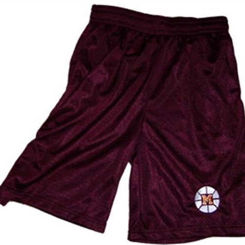 Mendon Basketball Youth Maroon Mesh Shorts