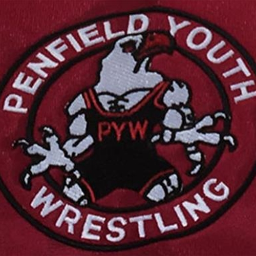 Penfield Youth Wrestling Embroidered Logo On Red Venom Hoodie